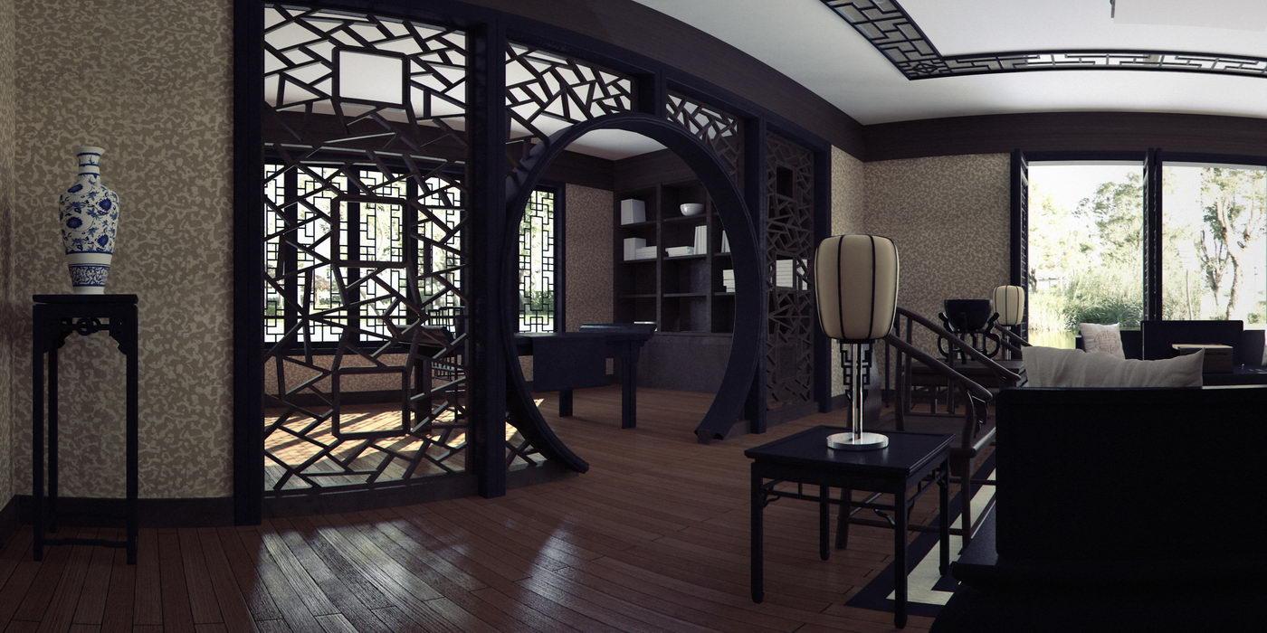 Interiores decoracion asia cuantico infografia 3d y - Decoracion de interiores restaurantes ...