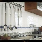 Infografia render 3d Cocina azulejo