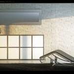 Infografia render 3d Salon Sleep