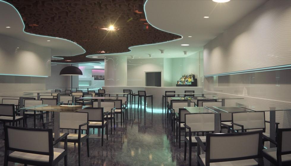 Interiorismo restaurante discoteca cuantico infografia - Carrera de interiorismo ...