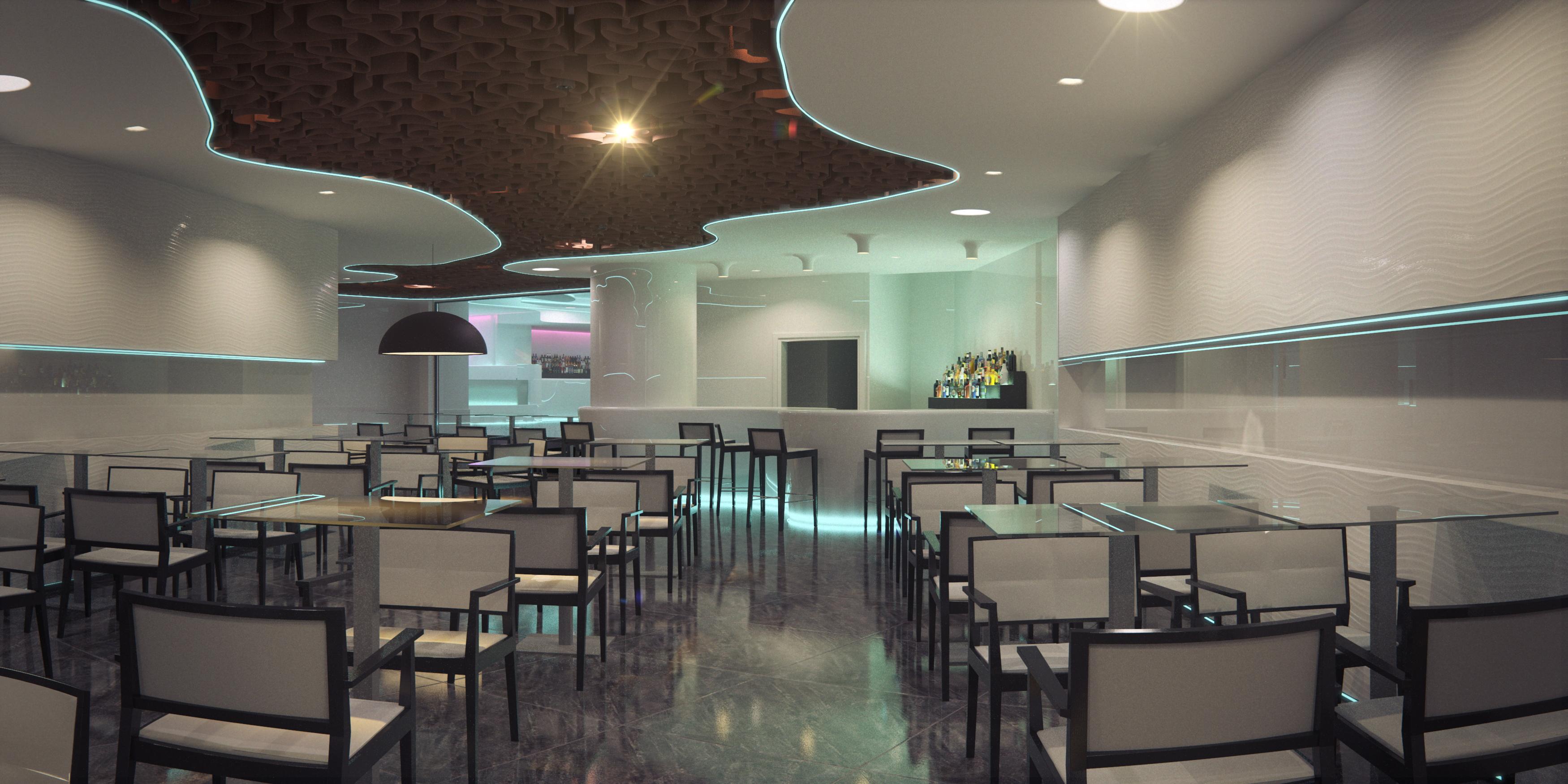 Interiorismo restaurante discoteca cuantico infografia - Interiores de salones ...