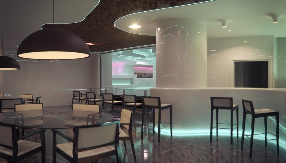 Interiorismo restaurante discoteca cuantico infografia for Curso interiorismo valencia