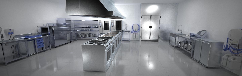 Infografias cocinas cuantico infografia 3d y video 3d en for Plano de cocina profesional