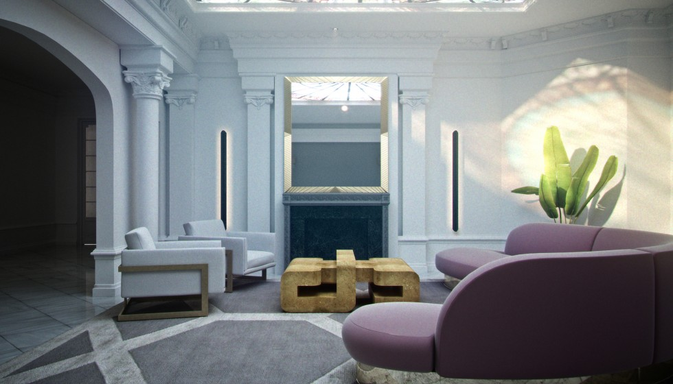 Infografia 3d interiorismo restaurante cuantico Carrera de interiorismo